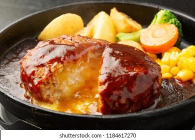 Cheese in Hamburg Steak