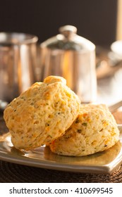 Cheese and Herb Scones served for breakfast