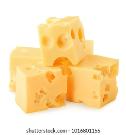 cheese, isolated on white background, clipping path