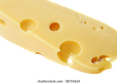 cheese isolated on the white background