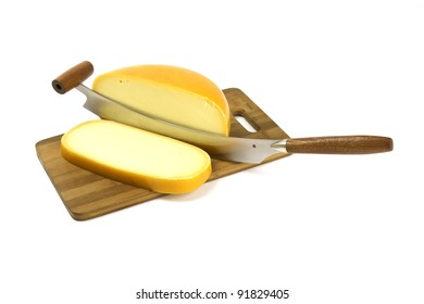 Cheese knife cuts cheese