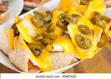 Cheese Nachos with Jalapenos