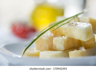 cheese with olive oil