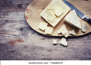 cheese over wooden background