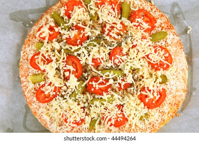 Cheese Pizza with white background
