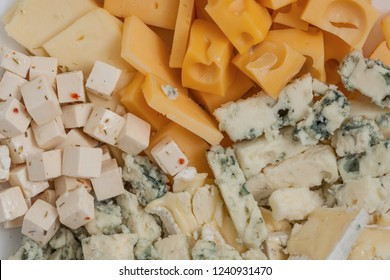 Cheese plate, assortment , Food background