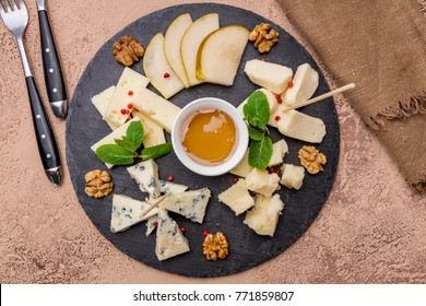cheese plate on the stone