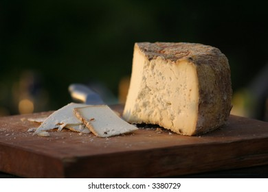 cheese platter at a dairy farm