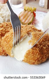 Cheese pork cutlet - Korean food
