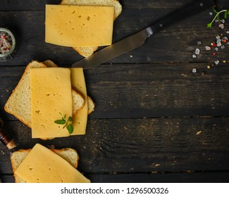 cheese, sandwich, mint, bread (delicious snack). Top. Food background