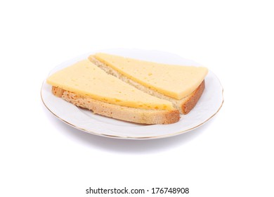 cheese sandwiches on the plate