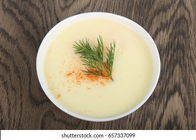 Cheese soup with spices