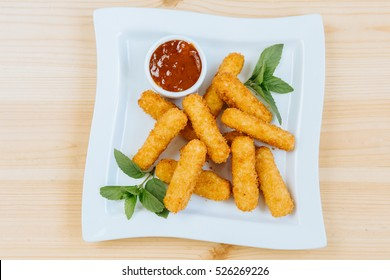 cheese sticks  on a plate