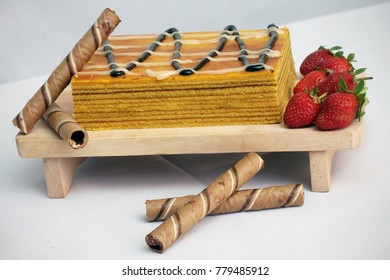 Cheese With Strawberry Lapis Legit Cake
