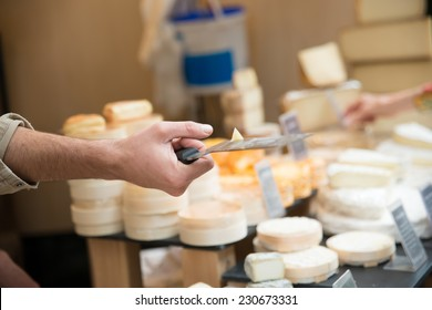 Cheese tasting in a shop