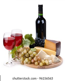 Cheese and wine grapes