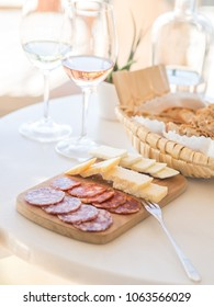 Cheese and wine tasting in Alentejo region, Portugal.