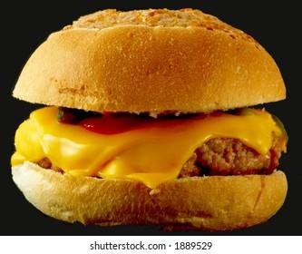 Cheeseburger on black cheeseburger