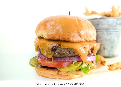 Cheeseburger White Background