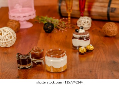 cheesecake in a jar with Caramel