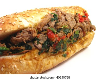Cheesesteak with Spinach