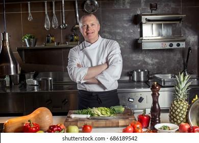 Chef in hotel or restaurant kitchen