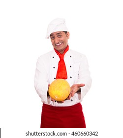 chef from India on a white background