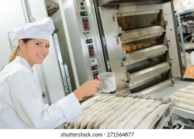 Chef preparing baguettes