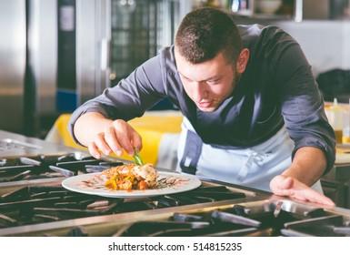 Chef preparing delicious meal