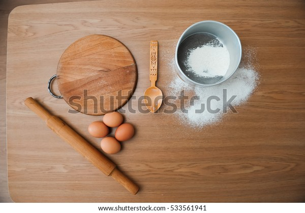Chef preparing dough - cooking process