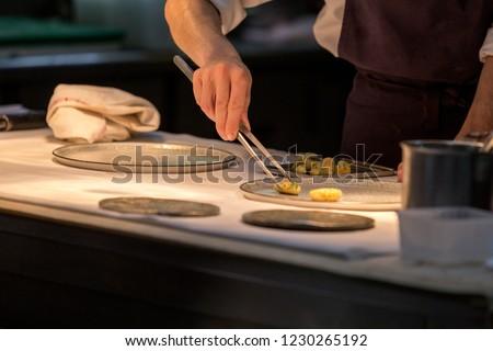Chef Preparing Entree Kitchen Restaurant Chef Stock Photo Edit Now