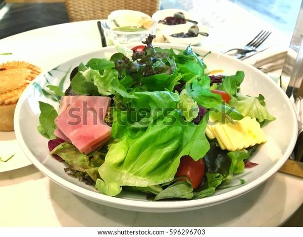 Chef Salad Nicely Arrange Salad Bowl Stock Photo Edit Now