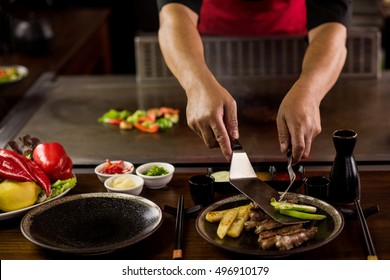 Chef setting up a healthy appetizer plate