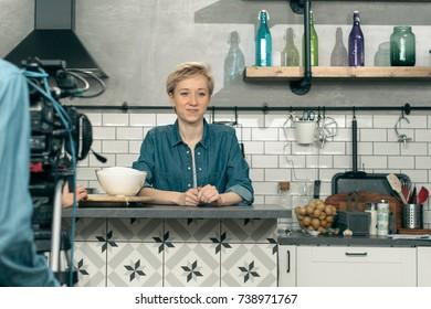 Chef TV presenter in the kitchen