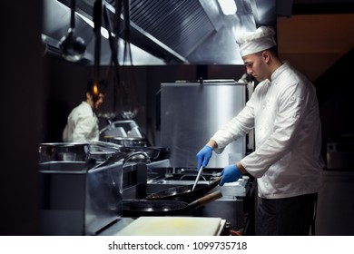 Chef working on the kitchen