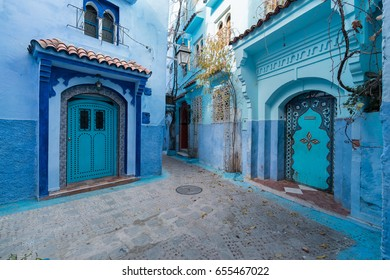 CHEFCHAOUEN, MOROCCO - JANUARY 10, 2017: Chefchaouen is the chief town of the province of the same name, and is noted for its buildings in shades of blue.