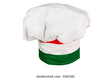 Chef's hat in traditional Italian colors.
