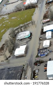 CHEHALIS, WASHINGTON � JANUARY 9, 2009 � Washington state flooding is frequent in the farm valleys along Interstate 5.