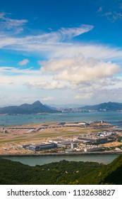 Chek Lap Kok Island, Hong Kong - July 4 2018,: Hong Kong International Airport