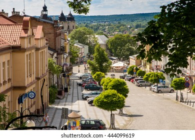 Chelm, Poland - June 12, 2016: The view from the bell tower of the Basilica of the Virgin of Our Lady of the city Chelm in eastern Poland