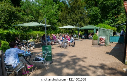 Chelmsford, Essex - 1st August 2017 - People enjoy some food and drink on a day out at Hylands House Chelmsford, Essex UK