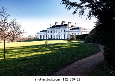 Chelmsford, Essex / UK - FEB 24 2019: white building in the park