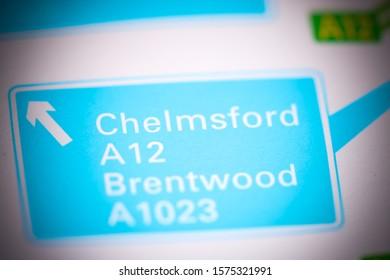 Chelmsford. United Kingdom on a map
