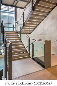 Cheltenham, England - 2016.  The Wilson Gallery stairs.
