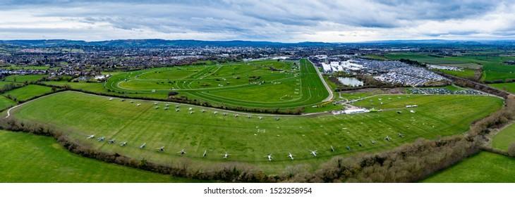 Cheltenham Festival from the air