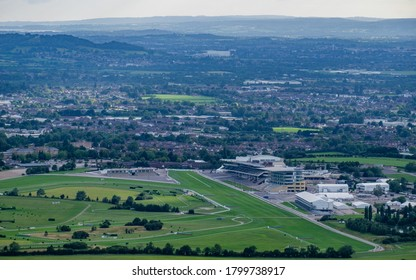 Cheltenham Racecourse - 7/7/20 - View over Cheltenham Racecourse