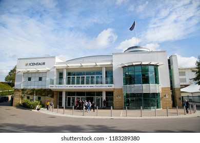 Cheltenham, UK: September 15, 2018: The Centaur is a multi-facility venue located at Cheltenham Racecourse. It can accommodate 800 delegates and is available to hire for a variety of events.