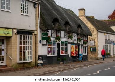 Cheltenham, United Kingdom - 11/07/2019: Prestbury village shop