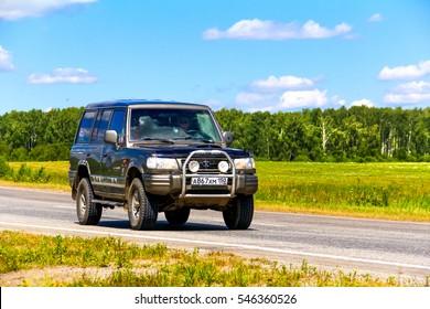 CHELYABINSK REGION, RUSSIA - JULY 11, 2016: Motor car Hyundai Galloper at the interurban road.
