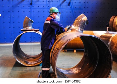 CHELYABINSK, RUSSIA - CIRCA OCTOBER, 2010 - The Chelyabinsk Tube-Rolling Plant is one of the largest producers of steel tubes and pipes in Russia